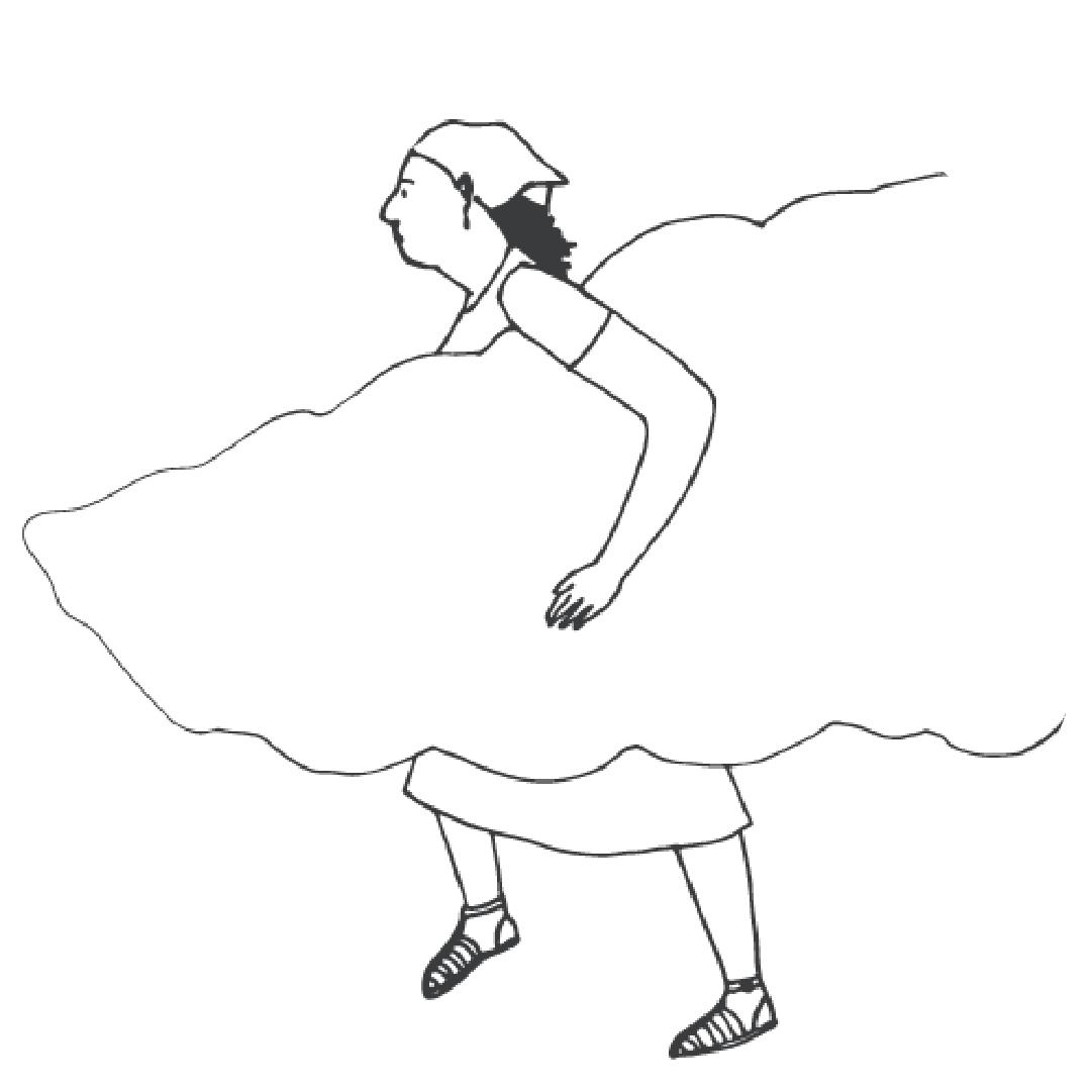 Mulher carrega nuvem